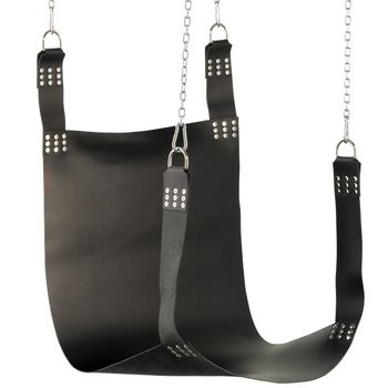 Liebesschaukel schwarze Slingmatte - Leder Sling -
