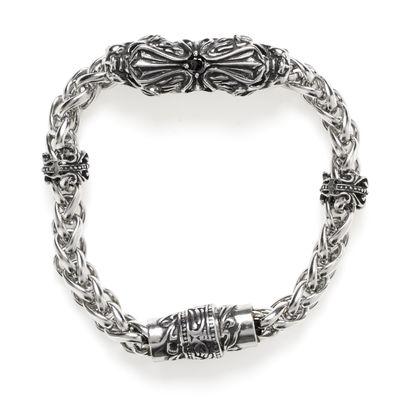 Edelstahlarmband Headpiece silver