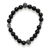 Bead Armband Onyx black silver Bild 1