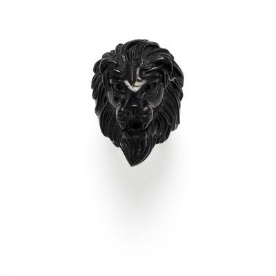 Edelstahlring Lion black Bild 1