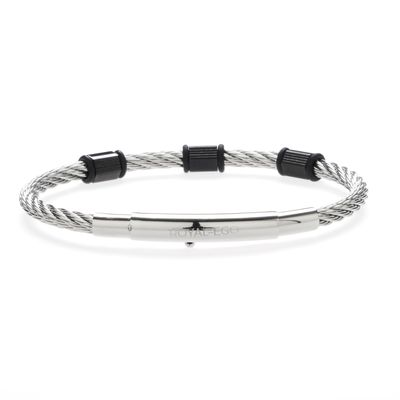 Lederarmband Back to Business silver black Bild 2