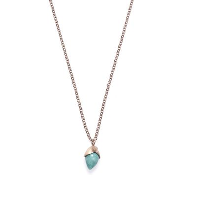 Kette Blossom small rose gold amazonite