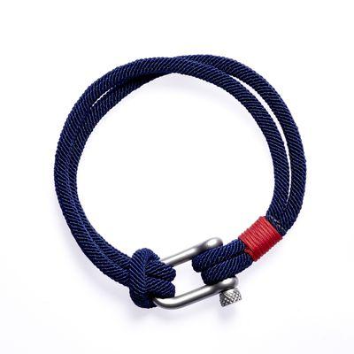 Armband Clasp dk. blue red silver Bild 1