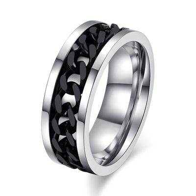 Ring silver black Bild 1