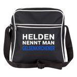 Schultertasche Helden nennt man Gelsenkirchener schwarz - Gelsenkirchen Gelsenkirchener Fußball Tasche Fanartikel