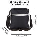 Schultertasche Ohne Mönchengladbach ist alles andere doof schwarz - Mönchengladbach Mönchengladbacher Fußball Tasche Fanartikel Bild 3