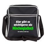 Schultertasche Klar gibt es wichtigeres als Mönchengladbach, ich weiß nur nicht was schwarz - Mönchengladbach Mönchengladbacher Fußball