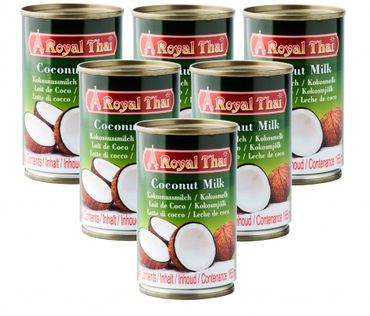 [ 6x 165ml ] ROYAL THAI Kokosnussmilch / Kokosmilch / Coconut Milk