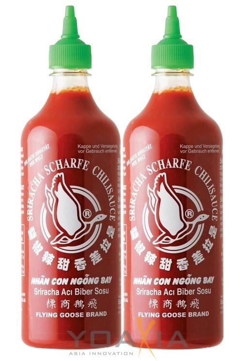 [ 2x 730ml ] FLYING GOOSE Sriracha scharfe Chilisauce HOT Chili Sauce
