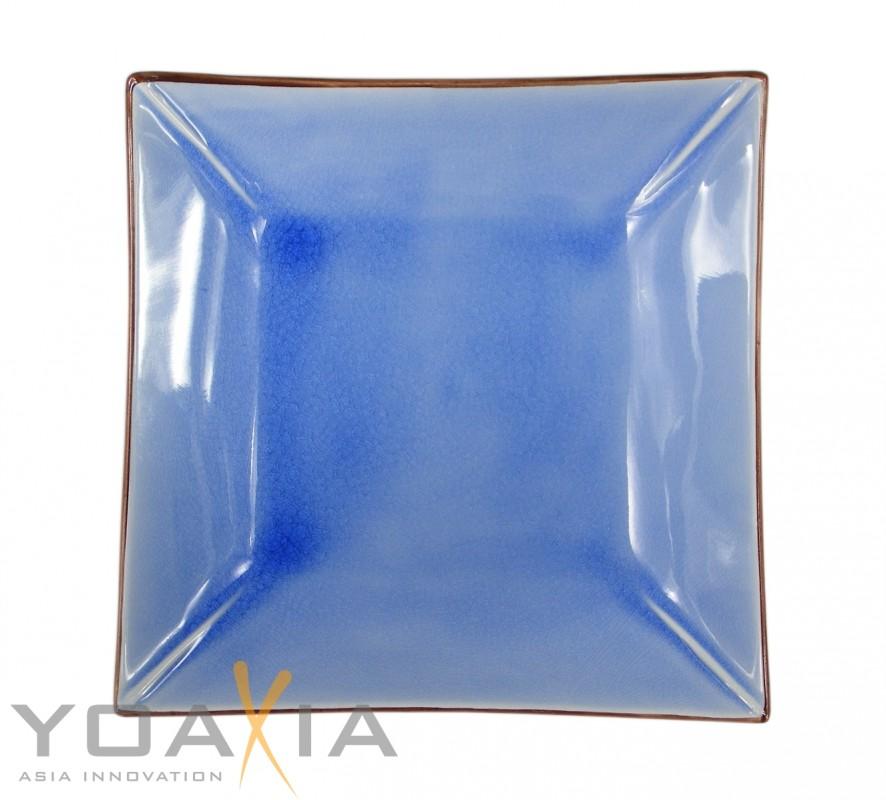 [ bleu ] Keramik- Teller / Sushi-Teller / Obstschale 23 cm x 23 cm