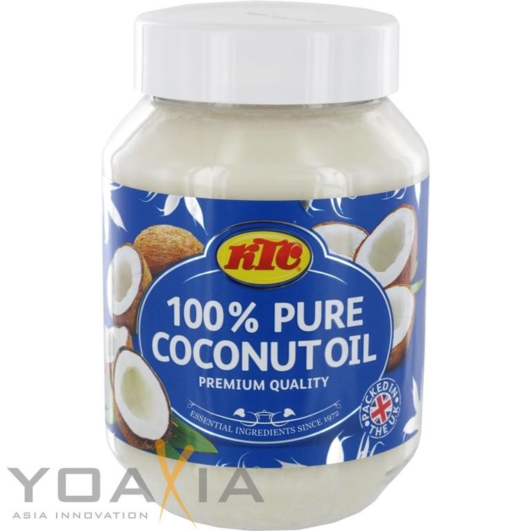 [ 12x 500ml ] KTC 100% Reines Kokosöl / Cocosöl / Kokosnussöl / Pure Coconut Oil