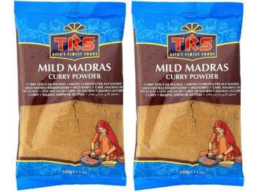 [ 2x 100g ] TRS Mildes Currypulver aus Madras / MILD Madras Curry Powder
