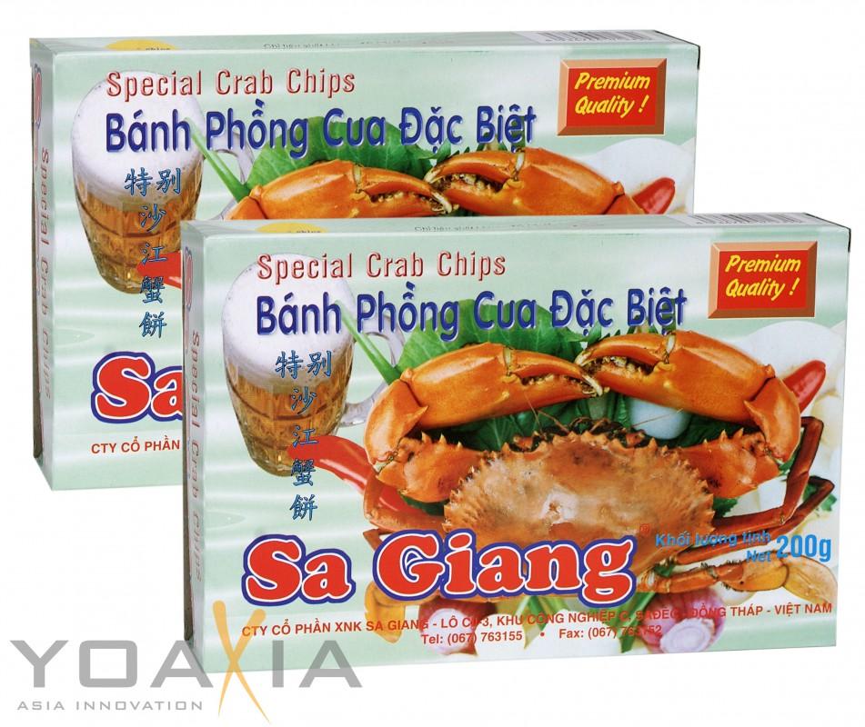 [ 2x 200g ] SA GIANG  Krabbenchips 13% Krabbe (nicht Garnele) / Special Crab Chips