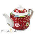 [ ARABESQUE ROT ] chinesisches Porzellan / Teekanne ca. 800ml / Teapot 001