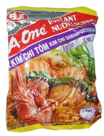 A-One [ 30x 85g ] Instant Nudelsuppe [ KimChi Shrimpgeschmack ]