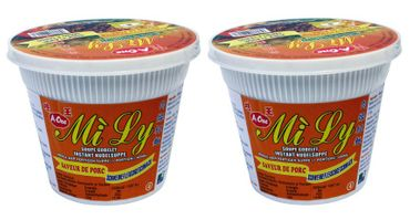 [ 2x 65g ] Mi Ly A-One Instant Cup-Nudeln [ Schweingeschmack ]