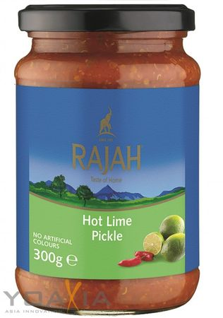 [ 300g ] RAJAH scharf eingelegte Limetten / Hot Lime Pickle