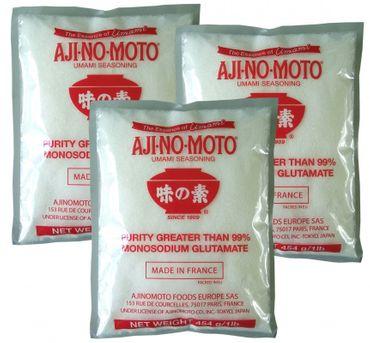 [ 3x 454g ] AJI-NO-MOTO Mononatrium Glutamat / Geschmacksverstärker E621