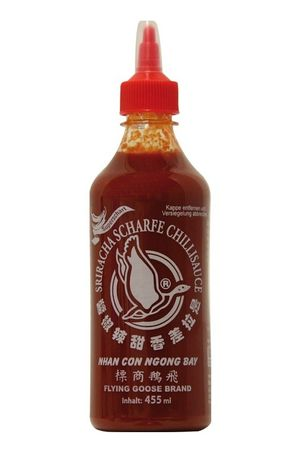 [ 455ml ] FLYING GOOSE Sriracha sehr scharfe Chilisauce SUPERSCHARF Chilli Sauce