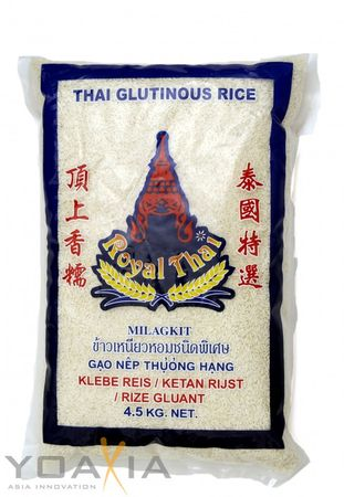 [ 4,5kg ] ROYAL THAI Klebreis / Klebe Reis / Klebereis / Glutinous Rice THAILAND