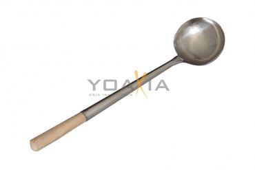 [ 42cm ] Wok-Kelle mit Holzgriff • Suppenkelle • Schöpflöffel • Schöpfkelle