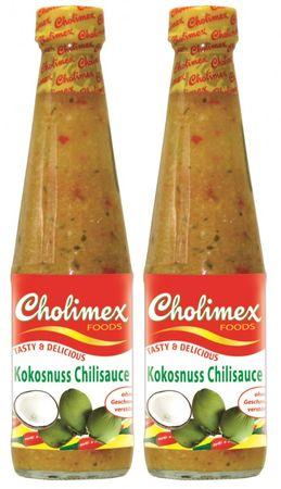 [ 2x 250ml ] CHOLIMEX Kokosnuss Chilisauce / Coconut Chili Sauce