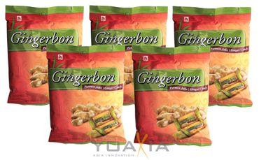 [ 5x 125g ] AGEL Ingwer Bonbons / Gingerbon / Ginger Sweets