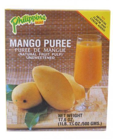 [ 500g ] Philippine BRAND MangoPüree / Mango - Fruchtmark ungesüßt MANGO PUREE