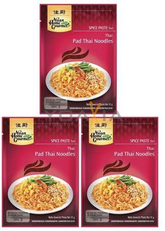 [ 3x 50g ] ASIAN HOME GOURMET Würzpaste für Pad Thai Nudeln