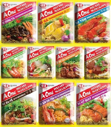 A-One PROBIERPAKET [ 10x 85g ] Instant Nudelsuppe [ 10 leckere Sorten je 1x 85g ]