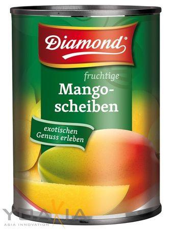 [ 6x 425g/ 230g ATG ] DIAMOND Mangofrüchte in Scheiben / Mango-Früchte