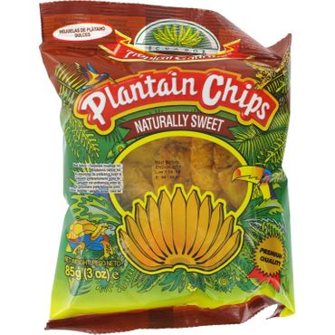 [ 85g ] TROPICAL GOURMET Bananen Chips [ naturally sweet ( Süß ) ] aus Ecuador