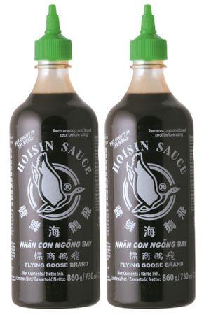 [ 2x 730ml ] FLYING GOOSE Hoisin Sauce / Hoi Sin Sauce / milde Würzsauce