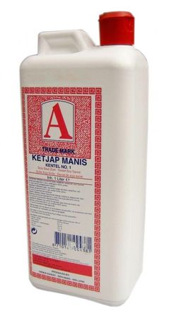 [1.000ml ] A TRADE MARK Ketjap Manis Kentel NO.1 süße Sojasauce / Kanister