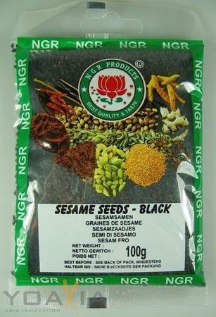 [ 100g ] NGR Sesamsamen SCHWARZ / Sesam / Black Sesame Seeds