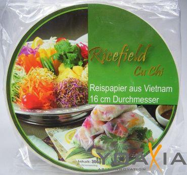 [ 2x 300g ] Reispapier, rund Ø 16cm für Frühlingsrollen / aus Vietnam