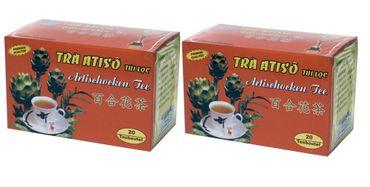 [ 2x 40g (20x2g) ] VINH TIEN Artischocken Tee mit Süßholz Artichoke Tea TRA ATISO