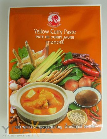 [ 12x 50g ] COCK Gelbe Currypaste / Yellow Curry Paste