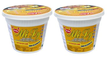 [ 2x 65g ] Mi Ly A-One Instant Cup-Nudeln [ Currygeschmack ]