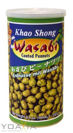 [ 350g ] KHAO SHONG Erdnüsse mit Wasabi überzogen / Wasabi coated Peanuts