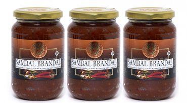 [ 3x 200g ] KONINGSVOGEL Sambal Brandal / Sehr scharfe Sauce / Very Spicy Sauce
