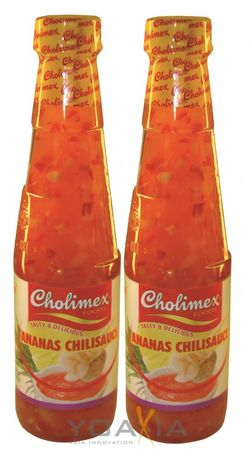 [ 2x 250ml ] CHOLIMEX Ananas Chilisauce / Pineapple Chili Sauce