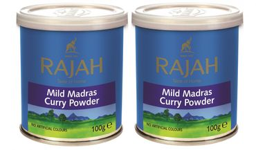 [ 2x 100g ] RAJAH Mildes Madras Curry Pulver / MILD Madras Curry Powder