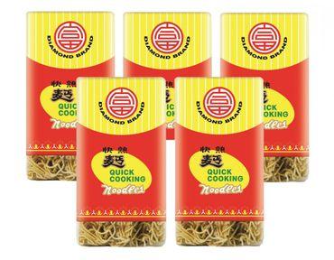 [ 5x 500g ] DIAMOND BRAND Schnellkochende Nudeln / Quick Cooking Noodles / Wok / Mie