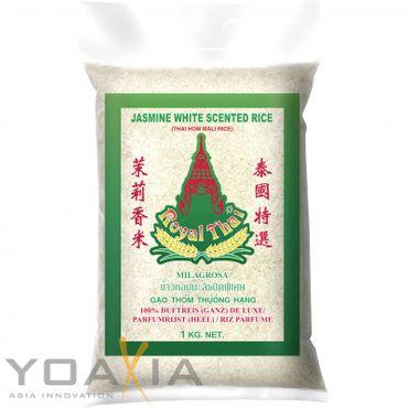[ 5x 1kg ] ROYAL THAI Langkorn Duftreis (ganz) DE LUXE / Jasmin White Scented Rice