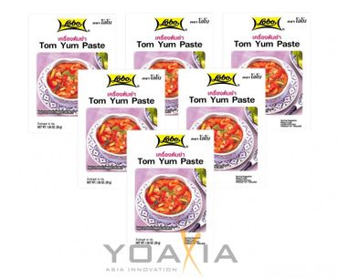 [ 6x 30g ] LOBO Tom Yum Würzpaste / Tom Yum Paste