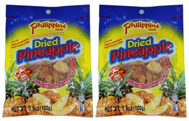 [ 2x 100g ] Philippine BRAND getrocknete Ananas-Stücke / Dried Pineapple