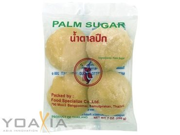[ 200g ] THAI DANCER Palmzucker ( Scheiben ) / Palm Sugar