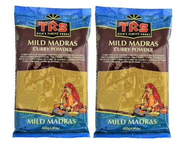 [ 2x 400g ] TRS Mildes Currypulver aus Madras / MILD Madras Curry Powder
