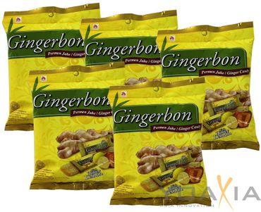 [ 5x 125g ] AGEL Ingwer Bonbons mit Honig & Zitrone Aroma / Natural HONEY LEMON